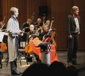 Gävle symfoniorkester gav på torsdagen konsert för elever i årskurserna 1–3, bland andra Jacob Bergström och Kristoffer Gustavsson från Ludvigsbergsskolan.