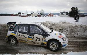 Ramona Karlsson/Miriam Walfridsson,  i en Skoda Fabia WRC trivdes ypperligt på underlaget.