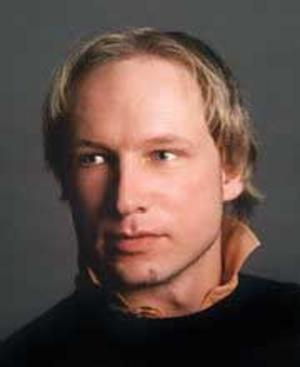 Anders Behring Breivik, 32, greps av polis efter skjutningen Utöya. Han sågs också tidigare utanför regeringskansliet strax före explosionen. Breivik anhölls på lördagen som misstänkt för både dödsskjutningarna på Utöya och bomben i Oslo.