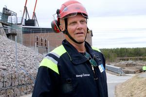 Bengt Östman guidade besökarna i Svegsdammens inre i söndags.