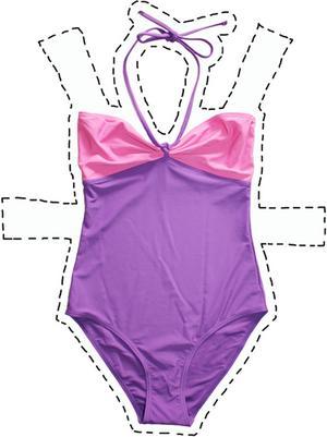Baddräkt i två rosa nyanser, 149 kr från Gina Tricot