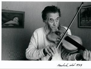 Författaren Erik Nilsson Mankok på en bild från 1979.Foto: Sune Jonsson