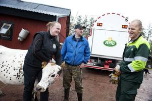 Arlas senaste medlemmar Anna Axelsson och Robert Gunérus som mjölkar så mycket av sina fjällkor att det räcker till mer än fäbodbruk