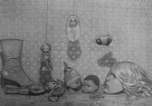 Jimmy Lundin från Falun deltar med två teckningar i utställningen.