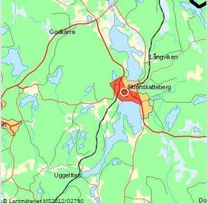 Stora delar av Skinnskatteberg är utan ström sedan 13-tiden på torsdagen.