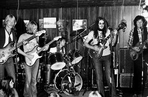 Musikgrupper Lupus från Västerås: Tommy Thuresson, Bosse Karlsson, Pelle Sundqvist, Björn Werngren och Anders Falk. Vi tror att bilden togs 1978.