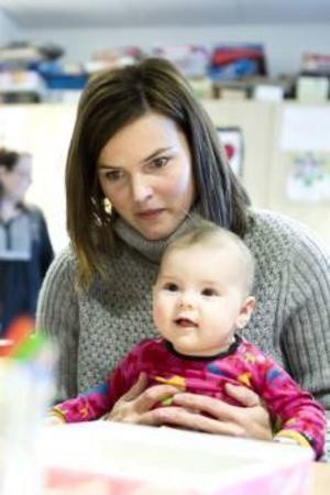 Susanna Kallur, 32, med dottern Majken.
