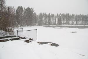 Fördämningen vid sjön Lien utanför Riddarhyttan