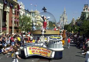 Sällskapet besökte även Disneyworld i Florida vid USA-besöket 2009.