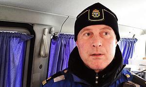 Staffan Jönsson vid trafikpolisen i Östersund.