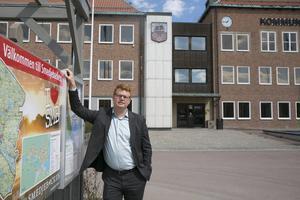 Kommunalrådet Fredrik Rönning (S) har anledning att vara nöjd med den ekonomiska utvecklingen i Smedjebacken
