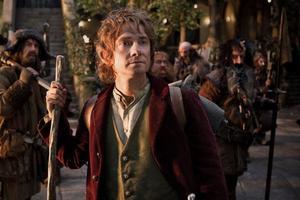 Bilbo (Martin Freeman) och de andra i