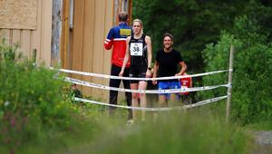 En laddad Åsa Wiklund inför sin sträcka mellan Vaterholmen och Indal på 7,4 kilometer under fjolårets upplaga av St Olavsloppet som lockade 210 lag.   Arkivbild: Simon Gunnholt