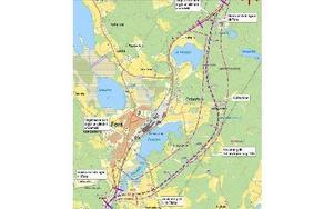 Så här ser planen för den nya vägsträckningen ut. Foto: Trafikverket
