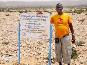 Information om projektet sitter uppe på i områdena som har besökts.