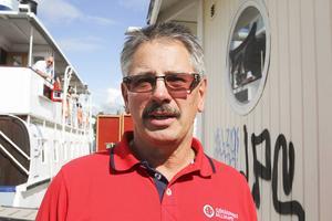 Peter Allansson, gymnasielärare till vardags och Storsjöns första stationsansvarige för nyetablerade Sjöräddningsstationen. Nu har också Storsjön fått vad kusterna redan har – frivilliga som kan rycka ut på båtlarm.