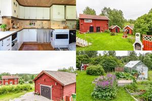 På Anders ers väg i Björsjö utanför Smedjebacken finns den här gården med tillhörande stall och växthus, som kan bli din för 650 000 kronor.