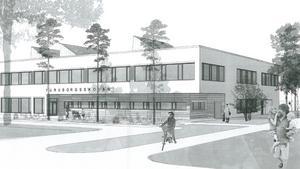 Så här kan den nya skolan i Nykvarns kommun komma att se ut.