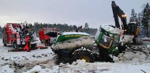 Starkast på plan denna dag var Jocke Nilsson och Iver Årvåg som höll med bärgningsbilar.– Vi hade 60 ton i reserv som vi inte utnyttjade, förklarade Iver.