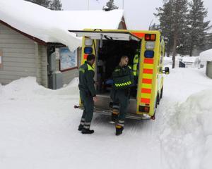 ambulansutryckning i Sälen.