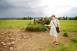 MalinMatilda Allbergs verk Solig dorje kommer att förändras i takt med att solrosfröna blir solrosor.