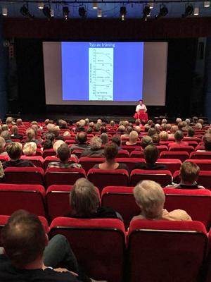 Michail Tonkonogi föreläste om styrketräning för äldre inför knappt 200 besökare på Folkets hus i Säter.
