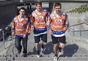 Nyförvärven Pär Törnberg, Juho Liukkonen och Per Hellmyrs fanns på plats.