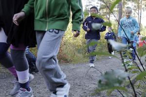 Gå, lunka, löp var vad som gällde för de 200 skoleleverna på Gärdeåsskolan.