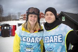 Therese Andersson och Axel Andersson fungerar som ledare och har tillsammans med sina kursare hittat på aktiviteterna under dagen.