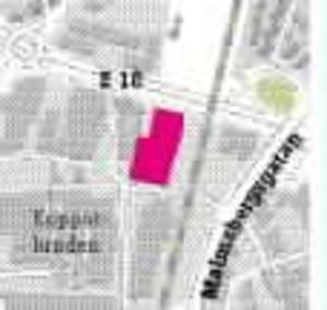 För nära. Det planerade ungdomens hus i Kopparlunden ligger några tiotal meter för nära E18.