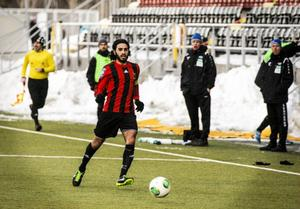 Mittfältaren Brwa Nouri var en av 17 spelare som fick speltid mot Ranheim.