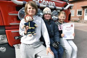 Leo Lassis, Malte Olmats och Louise Björs berättar om den festliga dagen på brandstationen.