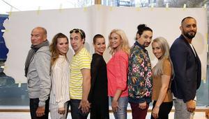 Lasse Holm, Ace Wilder, Per Andersson, Linda Bengtzing, Jessica Andersson, Thomas Di Leva, Linda Pritchard och Sami Daniel Rekik.