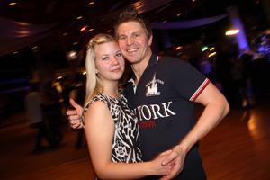 Långväga gäster besöker Parken under dansmarorna. Erika Halvarsson kommer från Hudiksvall och Patrik Nordqvist från Karlstad.