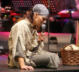 Lena Pettersson är en av gospelkörens två ledare.