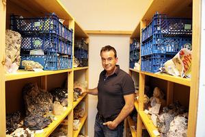 Jonas Bredberg är glad över att nu även ha fått ett arkiv där samlingen kan inrymmas.