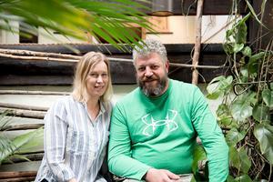 Sara och Andreas Gering driver Villa Fraxinus i Nordingrå sedan 2014. Förutom visningsträdgården, satsar de mycket på restaurang- och caféverksamheten.