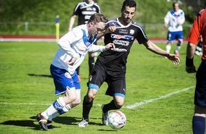 Martin Vestin (till vänster) gjorde Timrås båda mål.