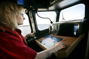Ullrica Alderback är för dagen navigatör.