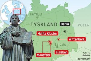 Här är Luthers Tyskland.