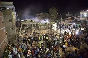Jordskalvet orsakade stor förödelse i Mexiko och landets huvudstad Mexico City.