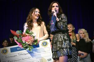 Caroline Persson var uppenbart tagen när hon blev vinnare i Talangjakten.