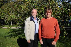 Anders Friberg, kommundirektör, och Lars Isacsson (S), kommunalråd är glada över att ansökan till Region Dalarna fått ett ja.