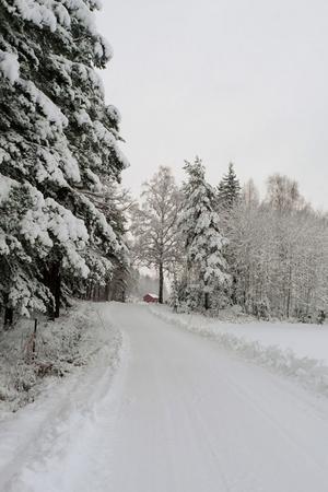 Att få uppleva naturens under var belöningen för att ta sig ut med bilen i snön.