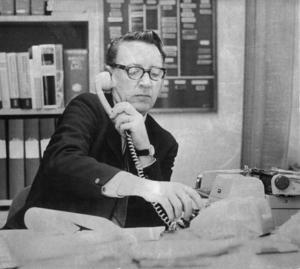 Gunnar Jegerfalk var relativt ny som polismästare i Bollnäs.