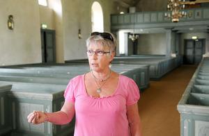Cecilia Widéen är ordförande för kyrkorådet i Hanebo–Segersta församling. Här ses hon i Segersta kyrka.