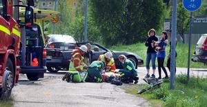 Olyckan inträffade längs Anneforsvägen i höjd med Brolins auktionskammare.