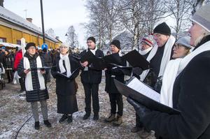 Anna af Falu Gruva uppträder en gång per år. Här i sången Gläns över sjö och strand.
