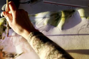 Annakarin Wennerberg gör en del artillustrationer som pryder skyltarna i olika naturområden.