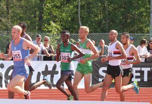 Rasmus Grelsson var sjua på 5000 meter på tiden 14:44.80.
